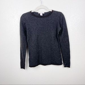 The Cashmere Project Blue/Black Striped Sweater
